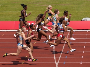 Heat 1 of the Womens 100m Semi-Final